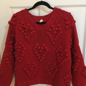 Wishlist Red Heart Popcorn Sweater